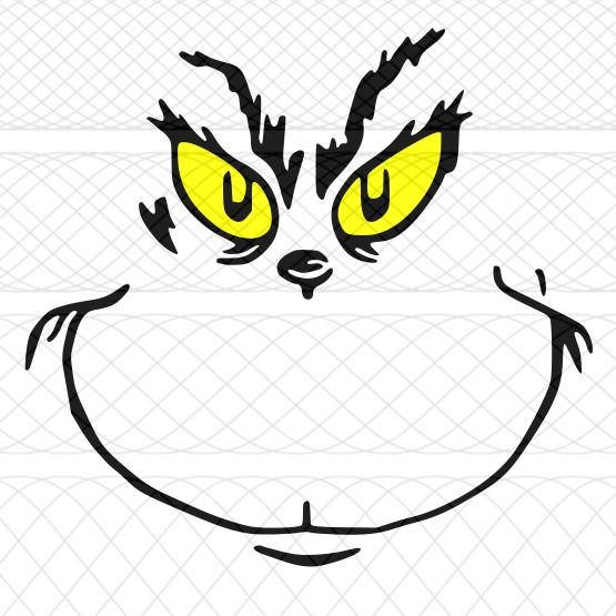 555x555 Grinch Face Svgpngstudio3 Cut Files For Silhouette Cameo