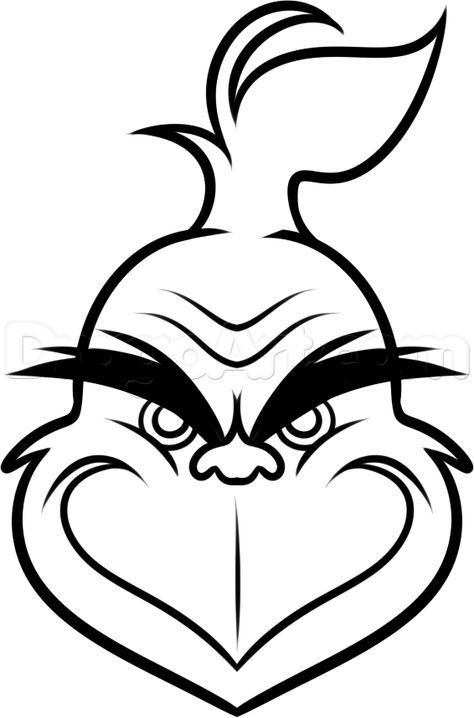 474x718 How Draw The Grinch For Kids Step 7 Grinch Face Pattern