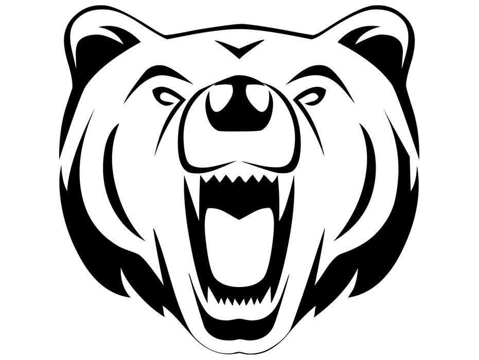 931x700 Grizzly Bear 6 Head Face Animal Growling Mascot Svg Eps