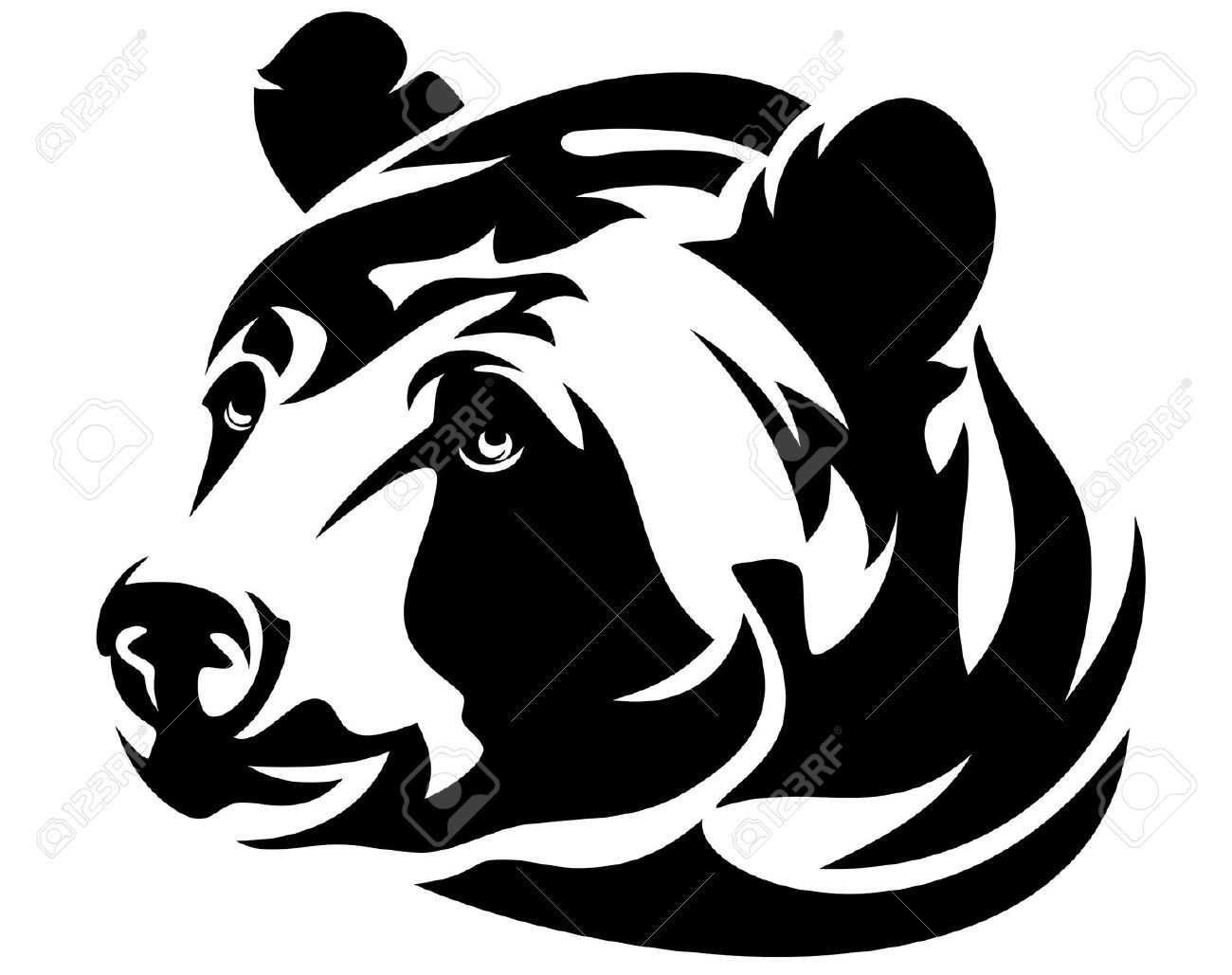 1300x1029 Grizzly Bear Tattoo Vector