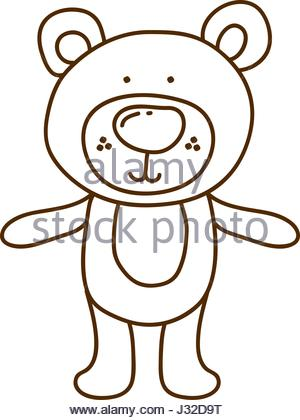 300x420 Vector Illustration Of Brown Bear Silhouette Stock Vector Art