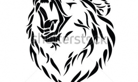 280x168 Grizzly Bear Head Vector Clipart Panda