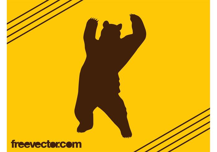 700x490 Bear Silhouette Free Vector Art