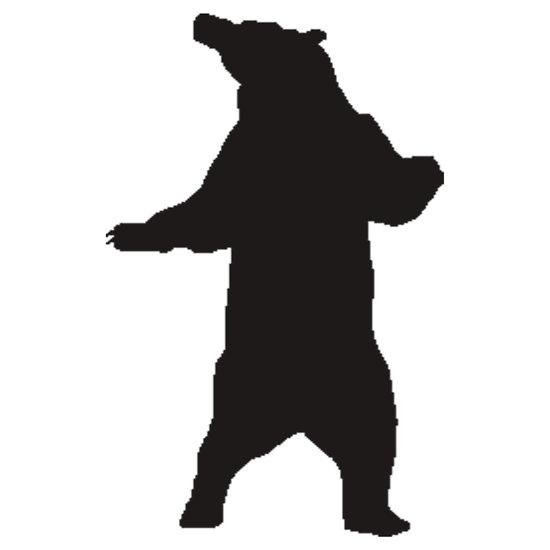 550x550 Grizzly Bear Silhouette Clipart