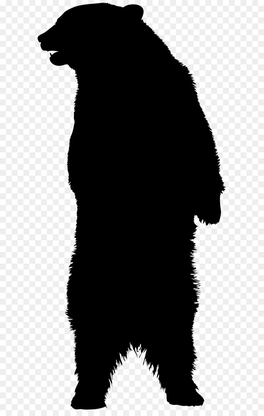 Grizzly Bear Silhouette Clip Art