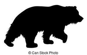 300x190 Brown Bear Silhouette Clipart Vector