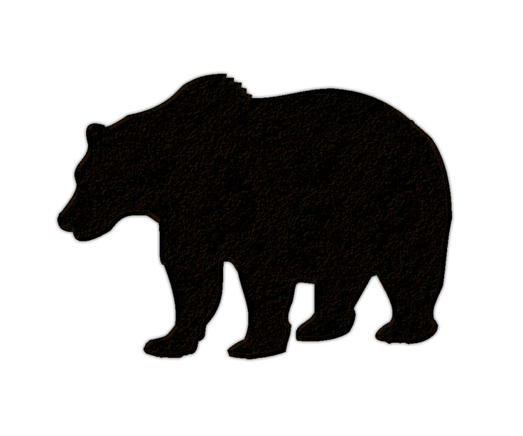 736x614 Grizzly Bear Silhouette Clip Art