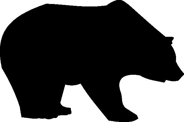 600x398 Bear Silhouette Bear Silhouette Clip Art Silhoettes