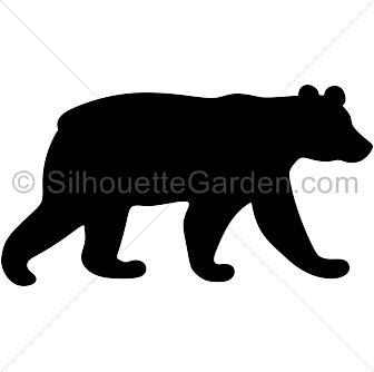 336x334 Black Bear Clipart Silhouette