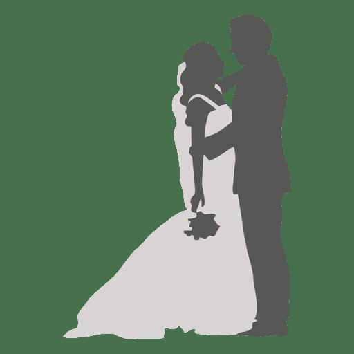 512x512 Bride Groom Romancing Silhouette
