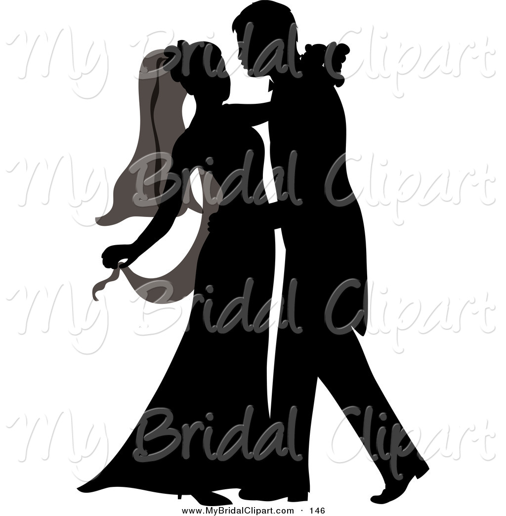 1024x1044 Bridal Clipart Of A Silhouetted Newlywed Couple Dancing