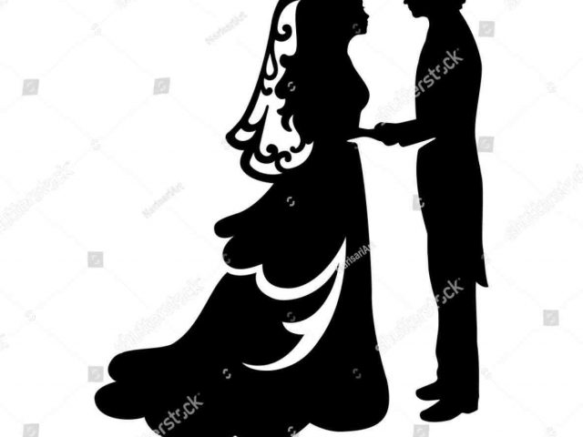 640x480 And Mrs Bride Groom Silhouette Bridal Couple Pencil In Color