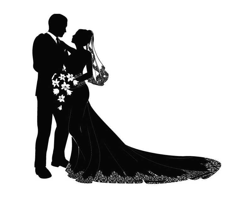 766x671 Bride And Groom Silhouette Clip Art N24 Free Image.94 Vintage