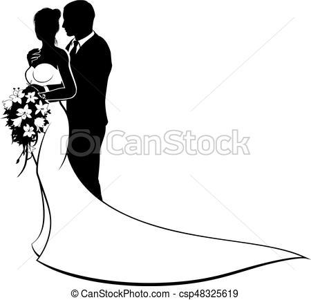 450x434 Bride And Groom Wedding Silhouette Couple. Wedding Design