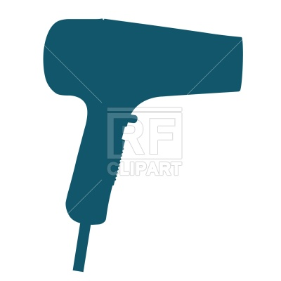 400x400 Hairdryer Silhouette Free Vector Clip Art Image