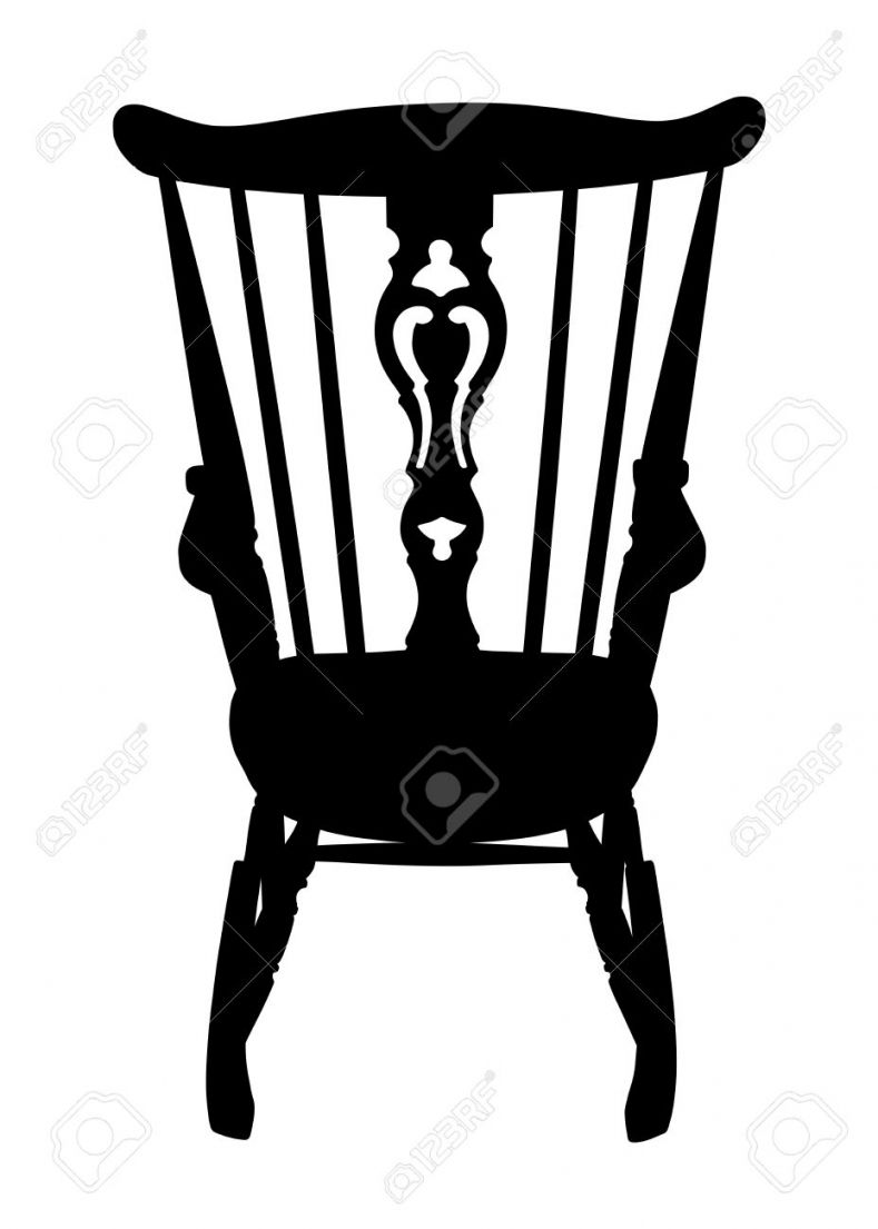 789x1105 Shocking Old Man Sitting Cane Stock Vector For Rocking Chair