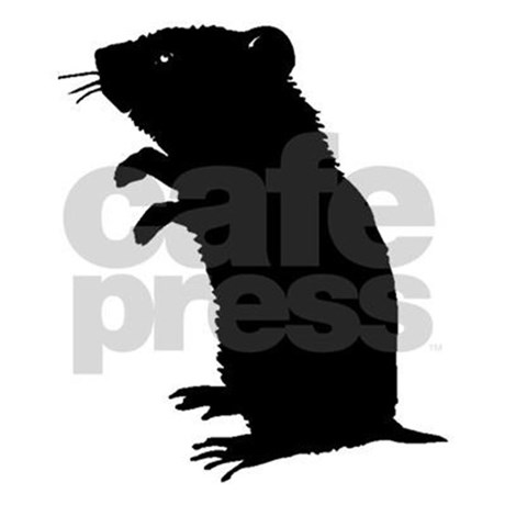 460x460 Gerbil Silhouette Pillow Case By Animalsilhouettesgifts