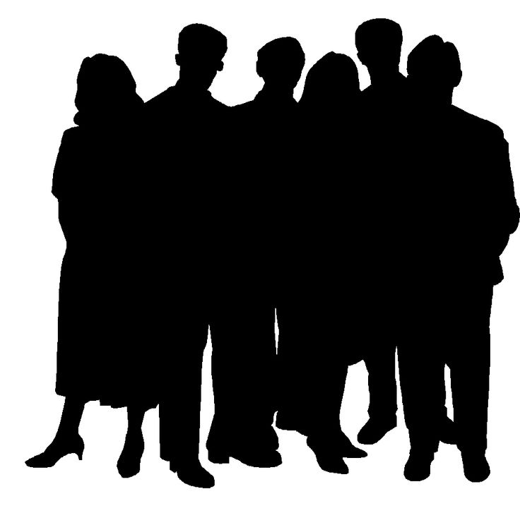 group of people silhouette at getdrawings com free for personal rh getdrawings com  group of people clip art free