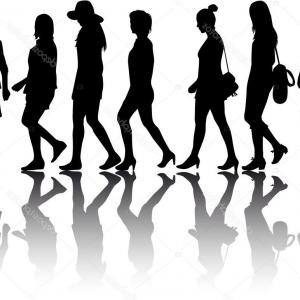 300x300 Stock Illustration Group Of Women Crowd Of Shopatcloth