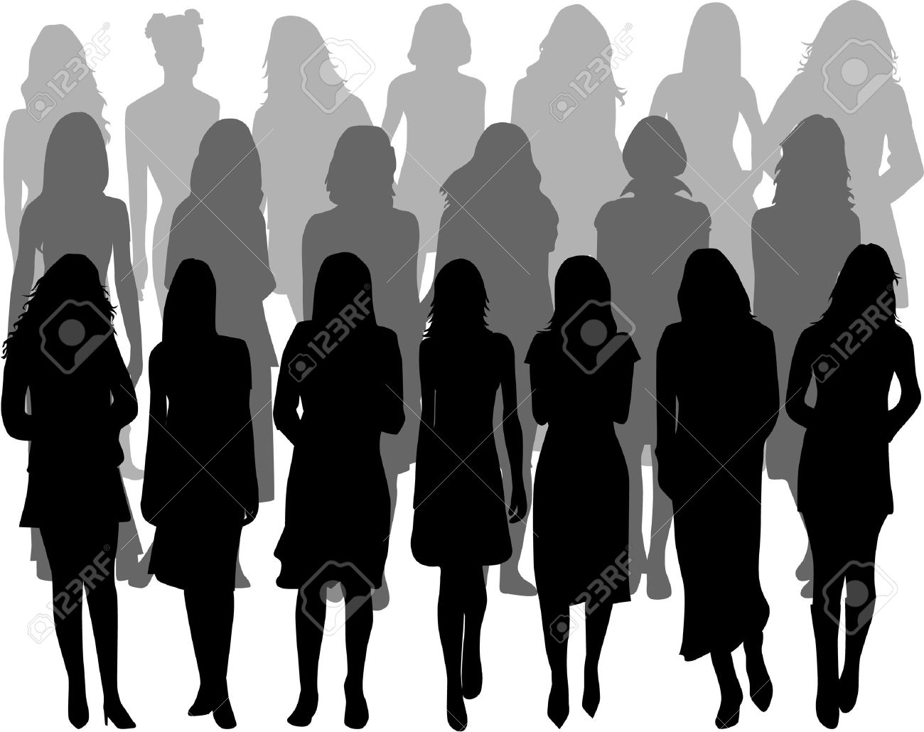 1300x1030 Group Of Women Clipart