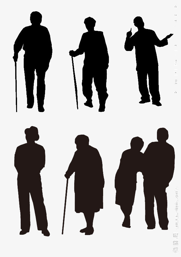 595x842 Lonely Old Man Silhouette, Group Chart, Lonely Old Man, Silhouette