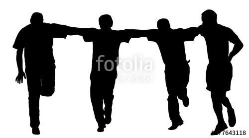 500x278 A Greek Evzone Dancing Group Vector Silhouette Isolated On White