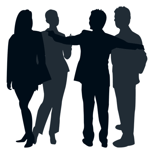 512x512 Colleague Group Silhouette