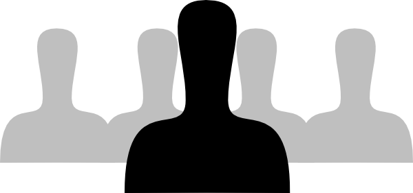 600x281 Group People Silhouette Clip Art