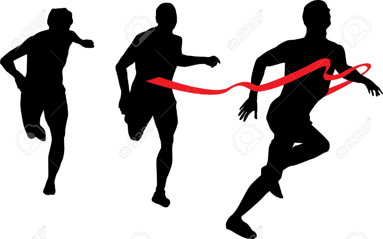1300x811 Group Running Silhouette Clipart