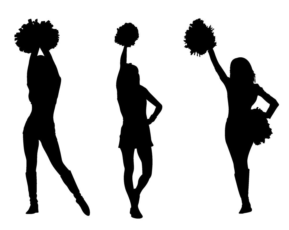 1000x794 Group Of 14 Cheer Stunt Silhouette