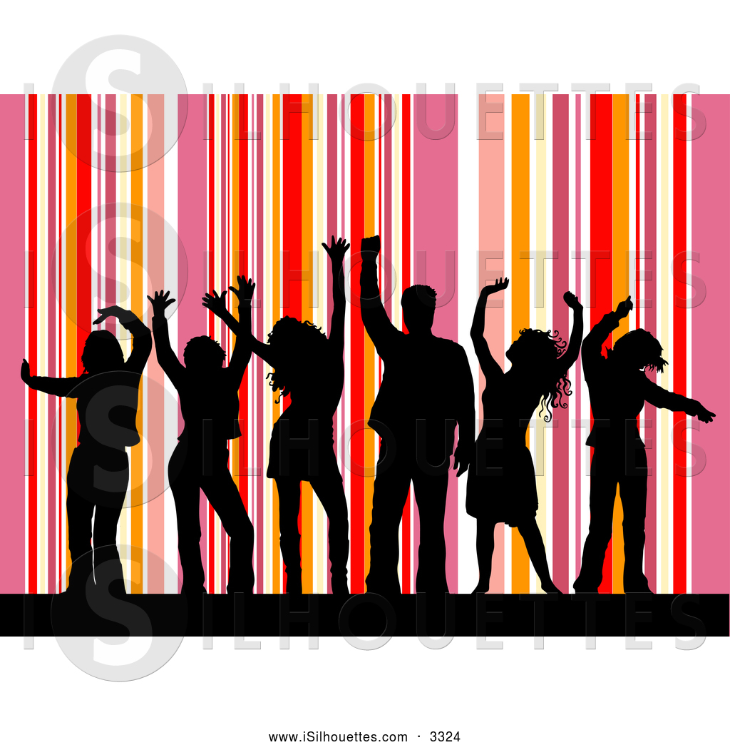 1024x1044 Silhouette Clipart Of A Group Of Black Silhouetted Dancers Dancing