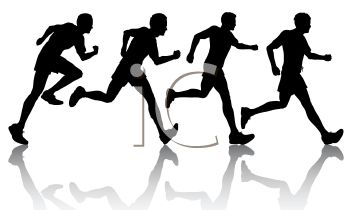 350x210 Silhouette Of A Group Of Runners