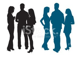286x200 Silhouettes Of Young Adults Group Stock Vectors