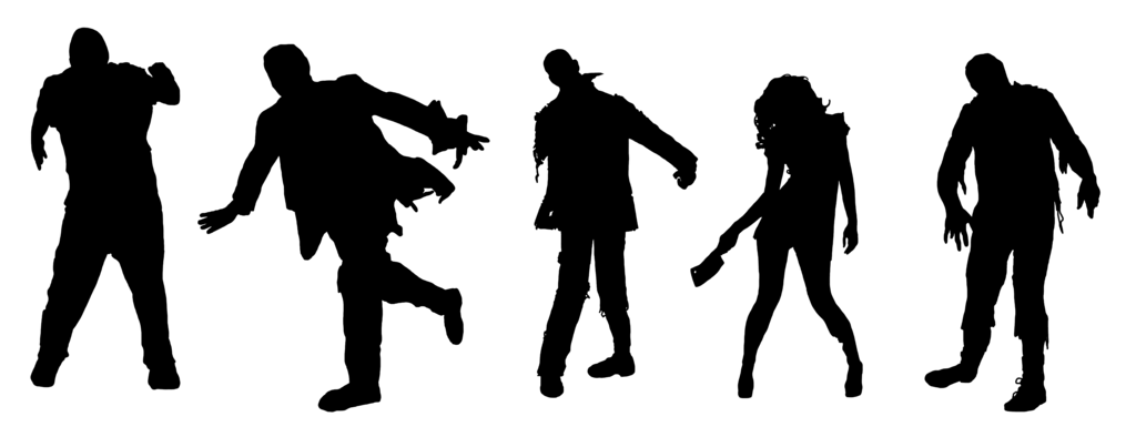 1024x394 Zombie Silhouettes By Karrendaen