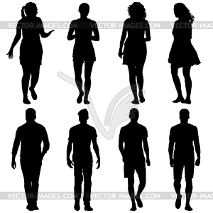 300x300 Silhouette Group Of People Standing In Variou