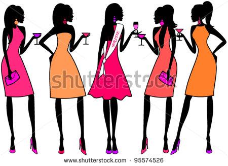 450x327 Fashion Clipart Group Woman