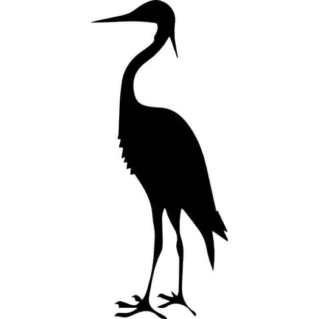626x626 Forma Di Gru Uccello Scaricare Icone Gratis