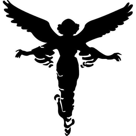 570x570 Guardian Angel Silhouette Decal