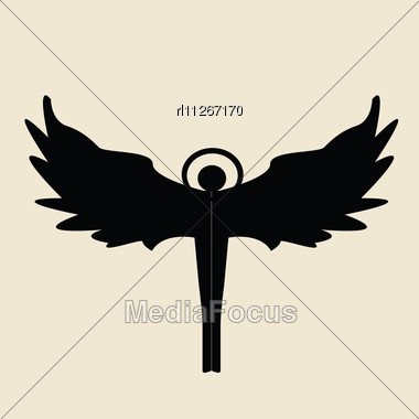 380x380 Stock Photo Angel Silhouette On Beige Background