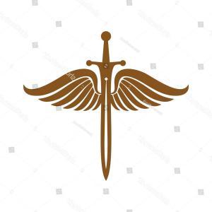 300x300 Angel Sword Shield Guardian Logo Template Arenawp
