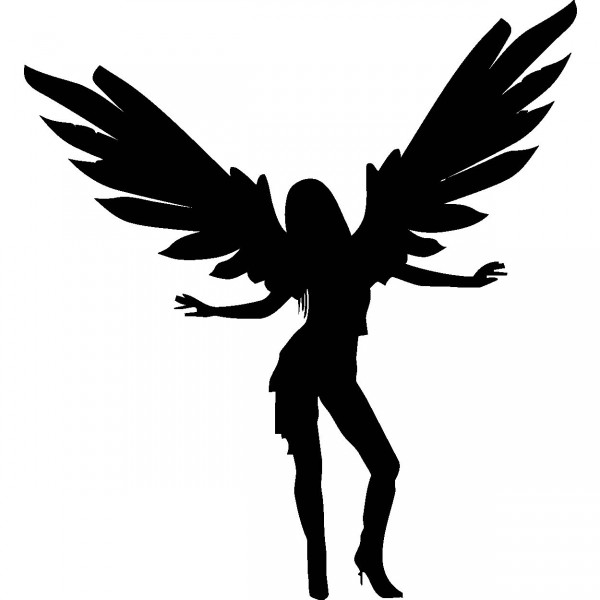 600x600 Angel Wall Art Decal Sticker Picture
