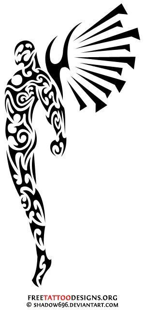 300x640 Dibujos Tatuajes Tribales Angeles