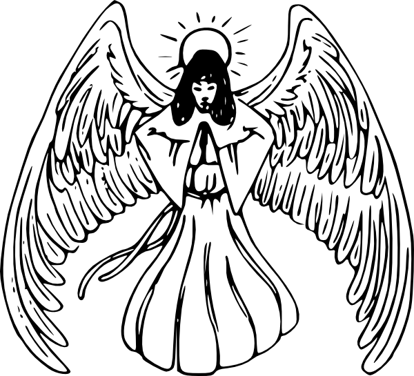 600x545 Angel Praying Tattoo Clip Art
