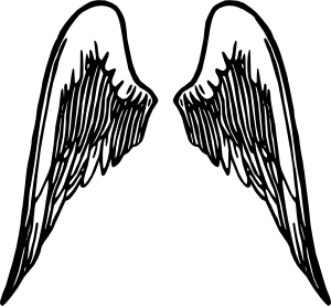 300x277 Angel Wings Tattoo Clip Art