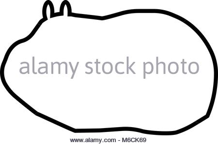 450x300 Guinea Pig Silhouette On White Background Stock Vector Art