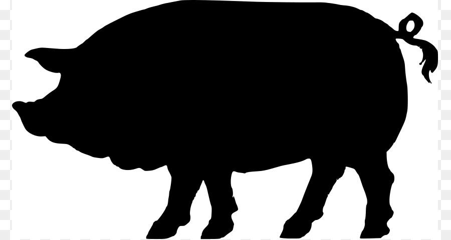 900x480 Domestic Pig Silhouette Clip Art