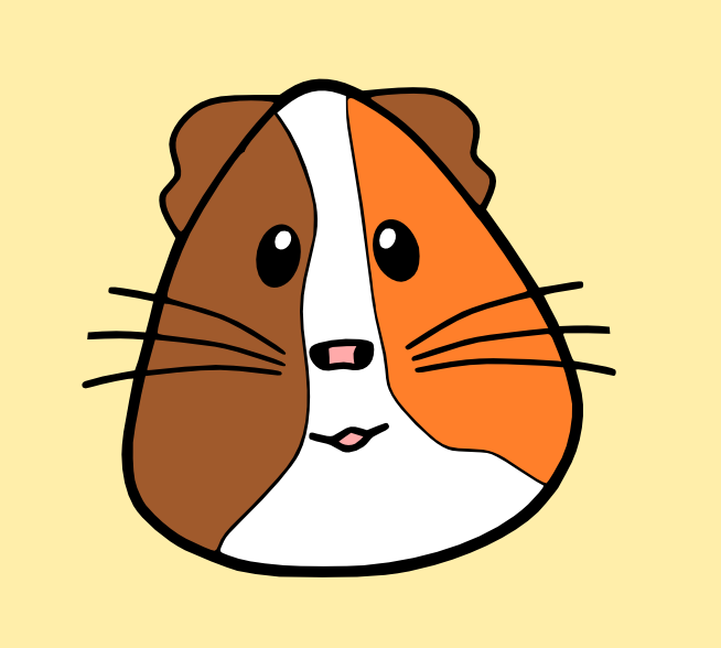 654x588 Guinea Pig Svg Svg File, Filing And Silhouettes