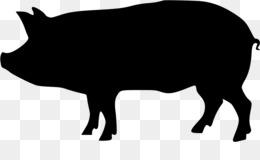 260x160 Domestic Pig Silhouette Clip Art