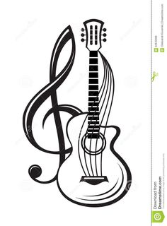 236x320 Acoustic Guitar, Sketch, Drawing, Illustration Painting Ideas