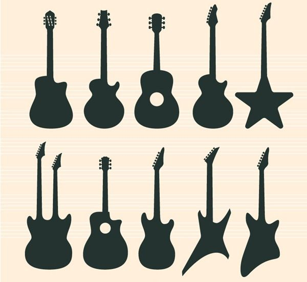 600x550 14 Best Guitar Images On Guitars, Silhouettes